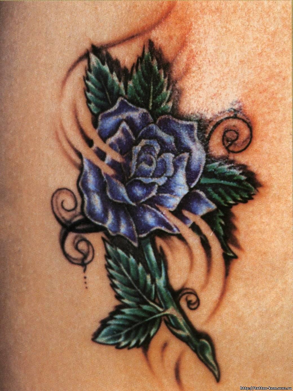 Эскизы тату цветов на плече
